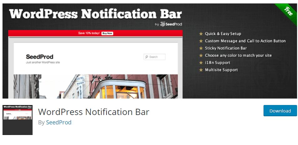 Barra de Notificação do WordPress