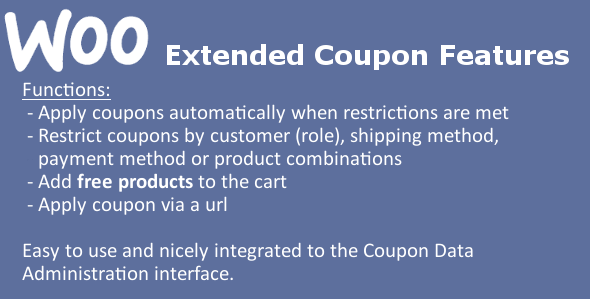WooCommerce Extended Coupon Features PRO
