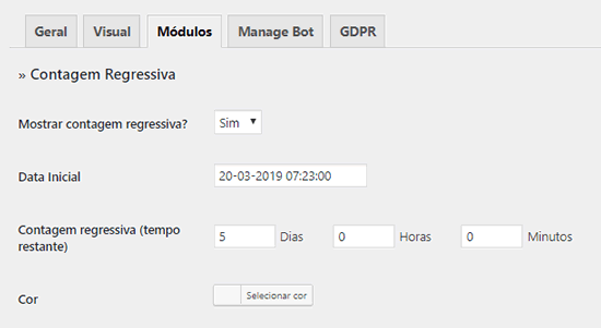 Adicionando um módulo temporizador de contagem regressiva no WordPress