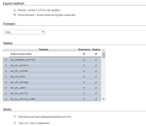 phpmyadmin backup manual