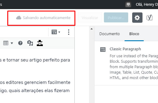 Salvamento Automático de Posts no WordPress
